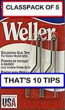(5 PACKS OF 2) WELLER 7135W Solder Tip for 8200 Soldering Gun, 2 per Pack/10tips