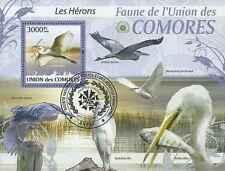 Timbre Oiseaux Comores BF212 o année 2009 lot 18794 - cote : 21 €