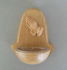 Weihwasserkessel aus Holz, Motiv: kleine betende Hände aus Kunststoff KL 12