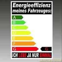 1x Effizienz CO2 Auto Aufkleber Shocker FUN 5v turbo V6 VR6 V8 spaß kostet 100