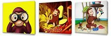 Curious George set of Three Wall / Plaques canvas pictures