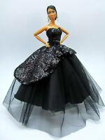 Eaki Black Silkstone Barbie Fashion Royalty Candi Evening Dress Outfit Gown FR