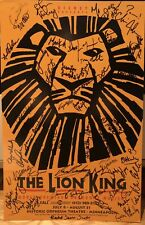 Cast Signed THE LION KING Broadway Tour Poster Windowcard