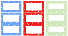 96 Dotty Jam Jar Labels Self-adhesive Traditonal Retro Spotty Jellies Preserves