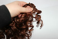 Human Hair Rooting Reborn Babies Toddlers Curl Auburn Copper Curly NOT Mohair