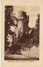 Antique POSTCARD Warwick Castle Caesar's Tower U.K. UK ENGLAND Unused