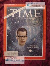 TIME Magazine March 11 1966 3/11/66 ASTRONOMY ASTRONOMER MAARTEN SCHMIDT +++