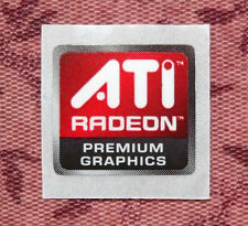 ATI Radeon Premium Graphics Sticker 15.5 x 14.5mm Case Badge USA Seller