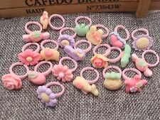 50 Pcs Mixed Matte Color Kids adjustable Plastic Cartoon Rings Jewelry Gifts
