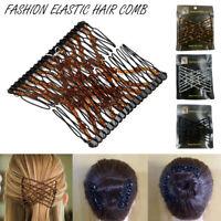 Fashion Elastic Hair Comb Magic Beads Hairpin Clip Hairstyle Design Accessories