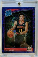 2018 18-19 OPTIC Blue Velocity Prizm Trae Young Rookie RC #198, RATED ROOKIE