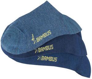 BAMBUS Socken Diabetiker blau 6/12 Paar Viskose o. Gummi 39-42 43-46