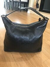 Gucci AUTHENTIC Guccissima Black Shoulder Purse Bag