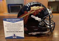 Charlie Ward Signed Florida State Seminoles Black Mini Helmet Heisman Beckett