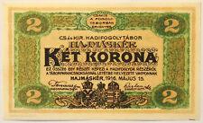 Hungary 1916 - 2 Korona - Hajmasker Prisoner of War Camp Banknote - Virty. Unc.