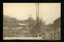Disaster postcard French from 12th St. , Erie, Pennsylvania PA Vintage 1915
