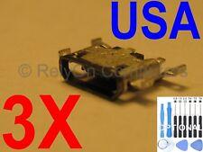 3x Micro USB Charging Charger Port For Motorola Moto G4 XT1625 XT1622 XT1620 USA
