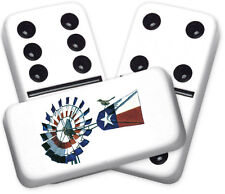 Texana Series Texas Windmill Design Double six Professional size Dominoes