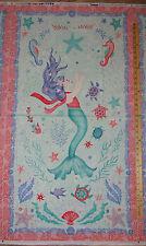 """Mermaid Dreams Underwater Ocean Fabric Panel  23""""   #3750P"""