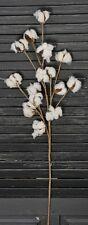 "31"" Cotton Boll Stem Spray Pick Branch - Farmhouse Decor - 15 Bolls per Stem"