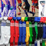 Unisex Men Women Football Plain Hockey Sport Rugby Stripe Basketball High Socks