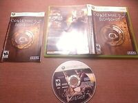 Microsoft Xbox 360 CIB Complete Tested Condemned 2 Bloodshot Ships Fast
