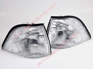 Pair Clear Corner Parking Signal Lights for 1992-1999 BMW E36 Coupe /Convertible