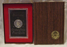 1972-S Eisenhower Ike Proof UNC 40% Silver Dollar w/Brown Box (Cloudy surface)