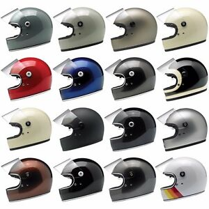 Biltwell Gringo S Full Face Motorcycle Helmet w/ Visor - Choose Size & Color