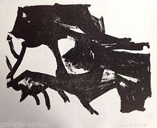 1€ Christa PYROTH Lithographie 1963 Signée Abstrait Pierre Soulages Hans Hartung