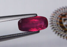 Precious GIA Certified Unheated Natural Ruby Cushion Red 2.10 ct