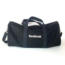 Facebook Duffle Bag Travel Sack Strap Black Social Media Large