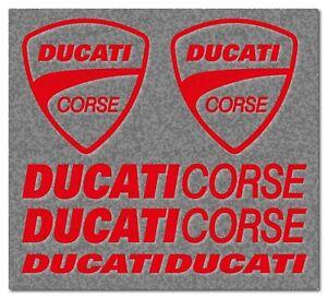 Aufkleber Set für Ducati Corse 6tlg. Ducati Motorsport Racing  35 Farben D007