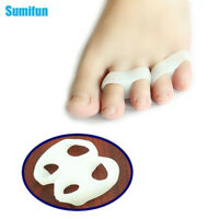 2Pcs Silicone Gel Toe Finger Separator Feet Care Braces Supports Tools C133