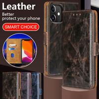 Lederhülle Flip Case Für IPhone 12 Pro 11 XS Max XR 8 7 Karten Hand Rub Holder