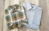 2 Timberland Men's Long Sleeve Button Front Shirts Size Small