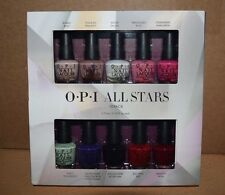 OPI ALL STARS 10-pc Mini Polish Gift Set~Bubble Tickle Alpine Apple Wine NEW!