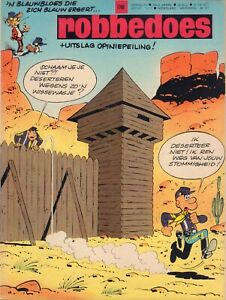 ROBBEDOES 1971 NR. 1749 - ASTERIX(ADVERTISEMENT)/BLAUWBLOEZEN(COVER)/DE SMURFEN