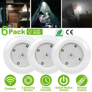 LED Kitchen Cabinet Under Unit Cupboard Night Light Lamp Dimmable Remote Control
