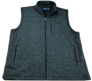 Polo Ralph Lauren Solid Gray Full Zip Fleece Vest Size XXL
