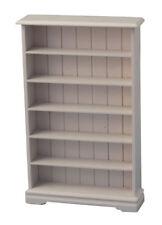 White Bookcase 6 Shelf, Dolls House Miniature Furniture, 1.12 Scale