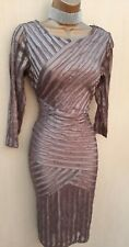 UK 8-10 REISS REBECCA Mink Tulle Bodycon Dress Mother of Bride Cruise Races