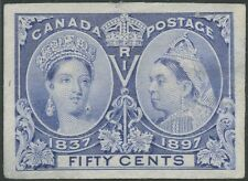 Canada #60P3 50¢ Jubilee Xf+ Scarce Plate Proof On India Paper Bs6427