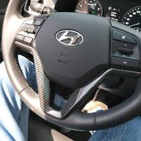 ABS Carbon Look Lenkrad Blenden Rahmen Abdeckung für Hyundai Tucson ab 2015