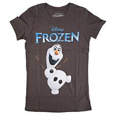 Disney Frozen Olaf Logo Juniors Grey T-Shirt