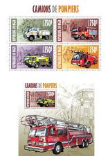 Fire Engines Transport Firefighters Feuerwehrleute Trucks Niger MNH stamp set