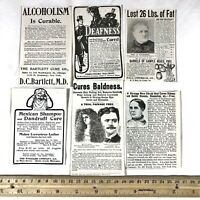 6x Authentic 1860-1930's Quack Medical Advertisement - Oddities Collectible Rare