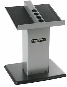 NEW POWERBLOCK Large Column Stand, Silver/Black, Model:Large Column Stand Silver
