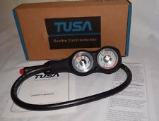 Tusa Imperial  Depth & Pressure Console Scuba Gauges