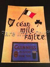 Cead Mile Failte Irish/Gaelic Welcome Guinness Print- Irish Pub Bar Home Poster